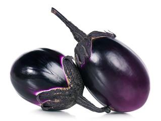 Raw aubergines