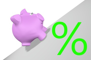 Stijgend spaar rente percentage