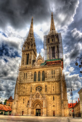Zagreb Cathedral on Kaptol - Croatia