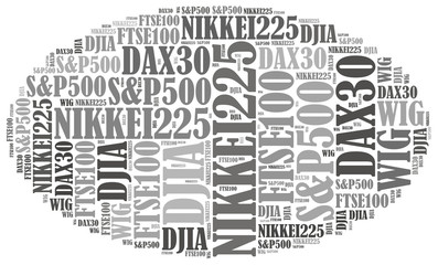 Stock market or New York Stock Exchange trading concept.