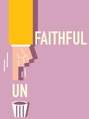 Unfaithful word VECTOR ILLUSTRATION