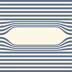 Abstract striped wallpaper frame. Vector