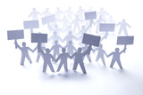 paper people community rally protest