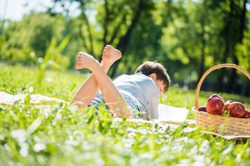 Boy at picnic