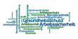 Leinwandbild Motiv Word Cloud - Gesundheitsschutz und Arbeitssicherheit