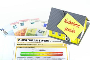 Haus Vermietung Nachmieter mit Energieausweis
