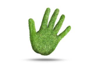 grass hand sign