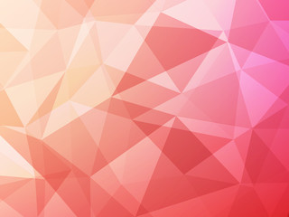 red pink and orange polygon abstract background