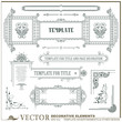 Vector decorative elements for business, envelope, invitations a