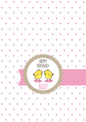 happy birthday baby card