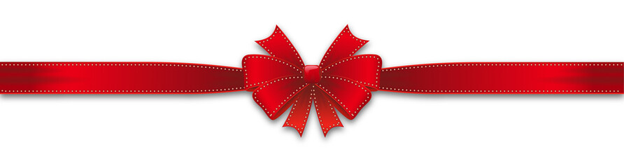 Red single ribbon
