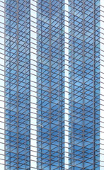 Abstract texture of blue glass modern office building background