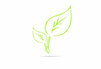 abstract leaf, plant , icon, nature, Eco friendly business logo