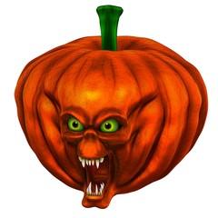 tête citrouille Halloween 5