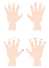 綺麗な爪と汚れた爪