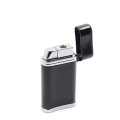 Black gas lighter on a white background