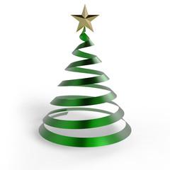 Weihnachtsbaum leer glanz