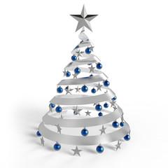 Weihnachtsbaum Glas blau