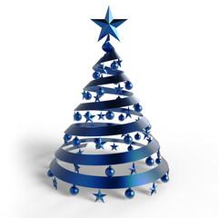 Weihnachtsbaum blau
