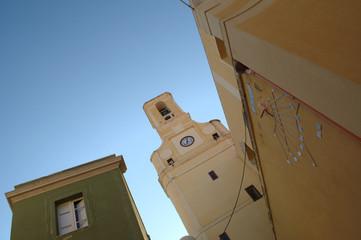 carloforte clock tower Sardinia San Pietro Italy