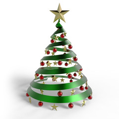 Weihnachtsbaum mit Kugeln glanz