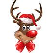 Red Nose Reindeer with Loop