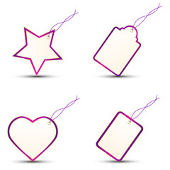 4 Gift Tags PURPLE