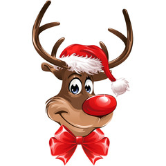 Red Nose Reindeer with Loop