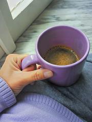 Bere un caffè americano