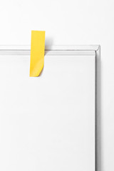 Post-its on Blank White Paper