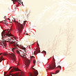 Floral background with vector flowers