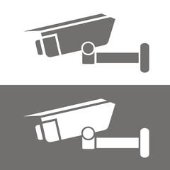 Icono cámara seguridad BN