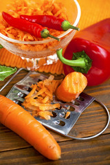 preparing healthy fresh vegetables