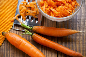 fresh grated carrot