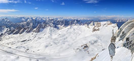 Alpine Alps mountain landscape in Europe