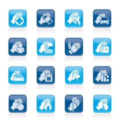 Insurance and risk icons - vector icon set