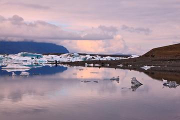 Translucent icebergs in the Ice lagoon