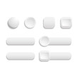 Vector  realistic Matted white color Web  buttons  symbol set is - 72148987