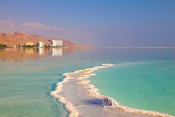 The evaporated salt in the Dead Sea