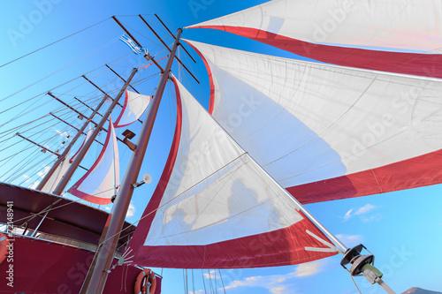sails on a ship