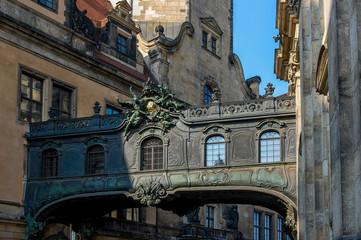 Dresden - Brücke in der Chiaverigasse
