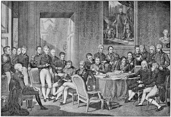 Congress of Vienna in 1814 by engraving Jean Godefroy