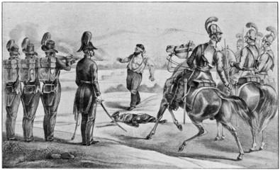 Execution of Robert Blum in November 1848.