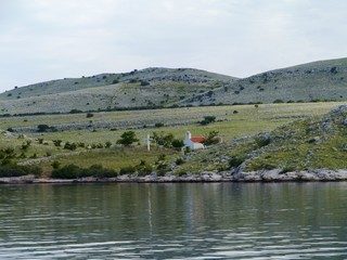 A chapel on the island Kornat in the Adriatic sea