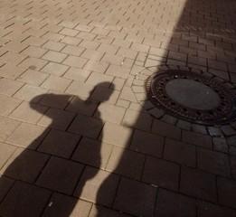 Licht und Schatten diagonal getrennt