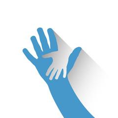 Vector logo children hand