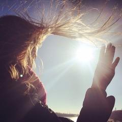 волосы от ветра