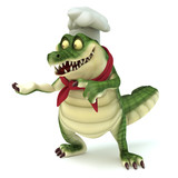 Chef croc showing pose poster