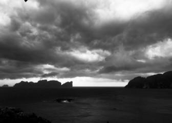 Black Seascape Gloomy Morning