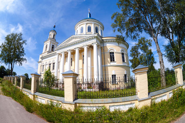 Temple of the Resurrection in the village of Selco-Karelian, Tve